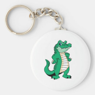 Cute Alligator  Basic Round Button Key Ring