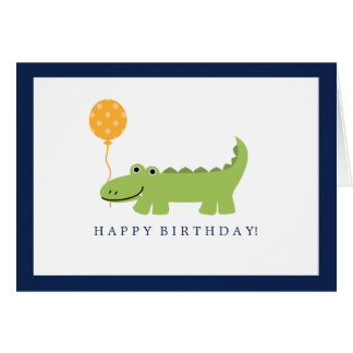 Cute Alligator Birthday Card