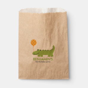 Cute Alligator Birthday Favour Bags