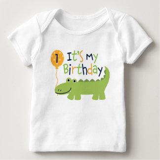 Cute Alligator Birthday Shirt