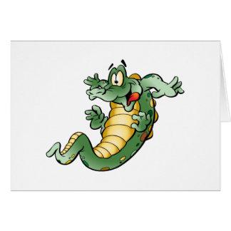 Cute Alligator Cartoon Card