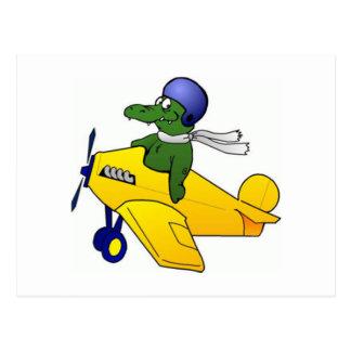 Cute Alligator/Crocodile Character Post Cards