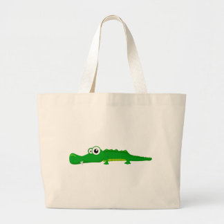 Cute alligator large tote bag