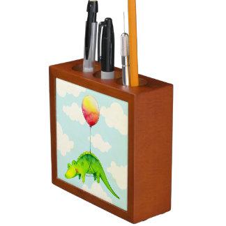 Cute Alligator & Red Balloon Desk Organizer Pencil Holder