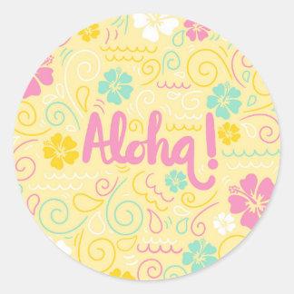 Cute Aloha hawaiian Summer Sticker
