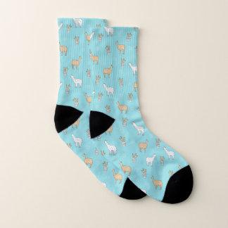 Cute Alpaca Llama Cactus Pattern Socks