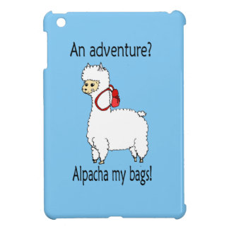 Cute alpacha adventure pun iPad mini cover
