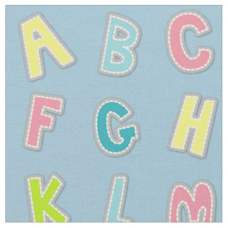 Cute Alphabet Themed Nursery Print Fabric