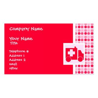 Cute Ambulance Business Card Templates