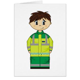 Cute Ambulance Man Card