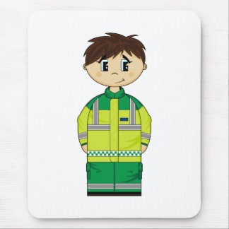 Cute Ambulance Man Mousepad