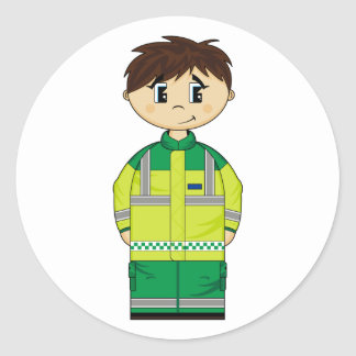 Cute Ambulance Man Sticker