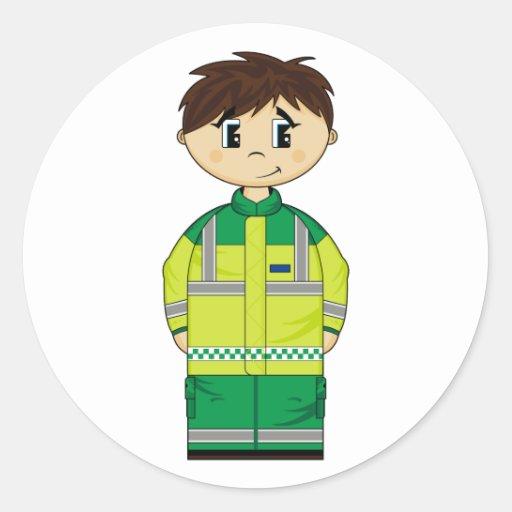Cute Ambulance Man Sticker