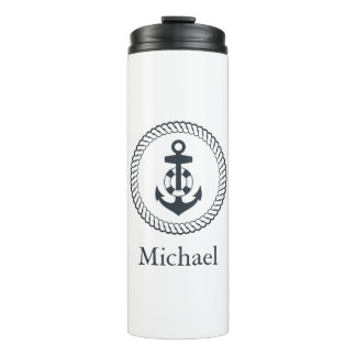 Cute Anchor | Add Your Name Thermal Tumbler