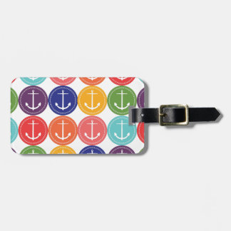 Cute Anchors Pattern Luggage Tag