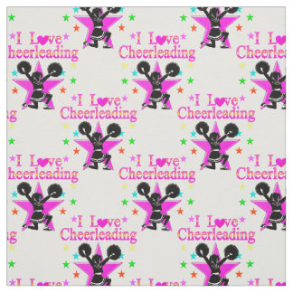 CUTE AND ADORABLE I LOVE CHEERLEADING FABRIC