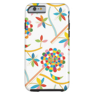Cute and Artsy Colorful Leaf Abstract Pattern Tough iPhone 6 Case