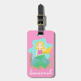 Cute and Beautiful Mermaid, for Girls Luggage Tag
