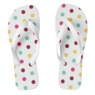 Cute and Classic Pastel Polkadotted Flip Flops