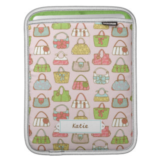 Cute and Colorful Bags Illustration Pattern iPad Sleeve