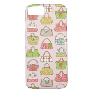 Cute and Colorful Bags Illustration Pattern iPhone 8/7 Case