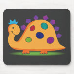 Cute and colorful cartoon spotted dinosaur mousepads