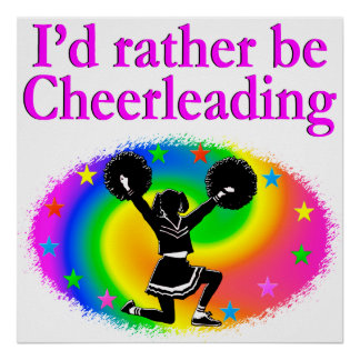 CUTE AND COLORFUL CHEERLEADING DESIGN POSTER