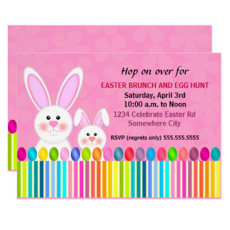 Cute and Colorful Easter Bunny Card