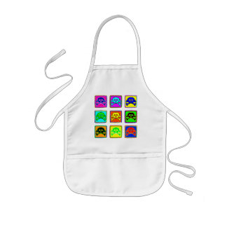 Cute and Colorful Skulls Kids Apron
