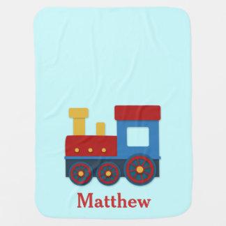 Cute and Colourful Choo Choo Train for Baby Boy Baby Blanket