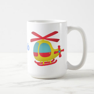 Cute and Colourful Helicopter for Kids Basic White Mug