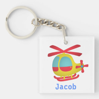 Cute and Colourful Helicopter for Kids Key Ring