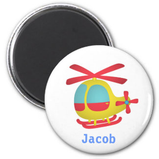 Cute and Colourful Helicopter for Kids 6 Cm Round Magnet