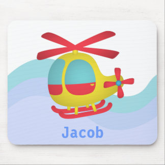 Cute and Colourful Helicopter for Kids Mouse Mat