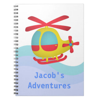 Cute and Colourful Helicopter for Kids Notebooks