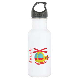 Cute and Colourful Helicopter for Kids 532 Ml Water Bottle