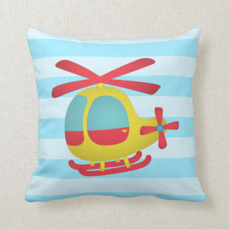 Cute and Colourful Helicopter for Kids Room Throw Cushions