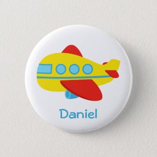 Cute and Colourful Passenger Aeroplane 6 Cm Round Badge