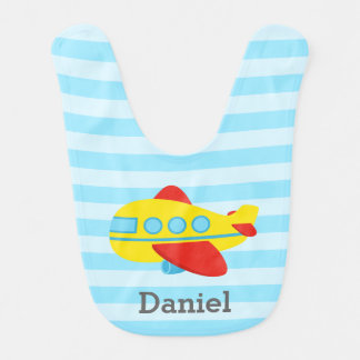 Cute and Colourful Passenger Aeroplane baby boy Baby Bibs