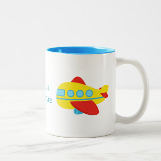 Cute and Colourful Passenger Aeroplane Mugs