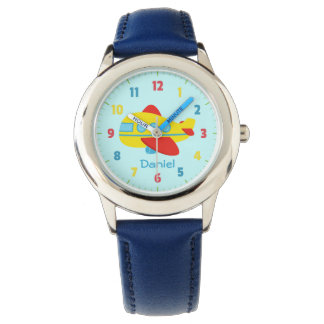 Cute and Colourful Passenger Aeroplane Wristwatch
