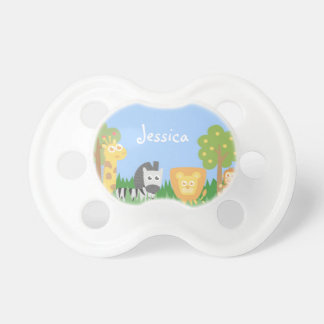 Cute and Colourful Safari Animals, for Kids Baby Pacifiers