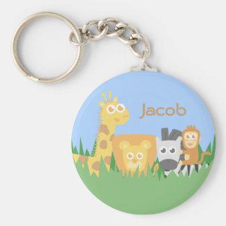 Cute and Colourful Safari Animals Keychain