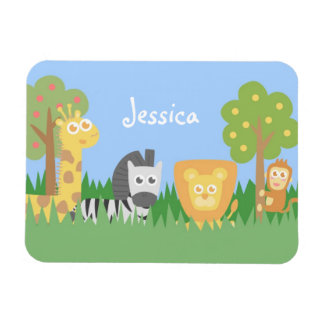 Cute and Colourful Safari Animals Theme Flexible Magnets