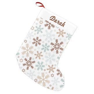 Cute and Colourful Snowflakes Small Christmas Stocking