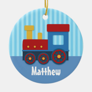 Cute and Colourful Train for Boys Christmas Ornament