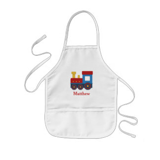 Cute and Colourful Train for Boys Kids Apron