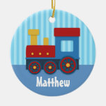 Cute and Colourful Train for Boys Ornament