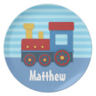 Cute and Colourful Train for Boys Plate