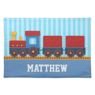 Cute and Colourful Train with Cargo for Boys Placemat